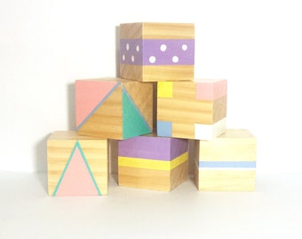 Pastel Geo Stacking Blocks