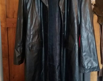 Faux leather jacket/discounts/SUPER sale/Cheap/faux leather Trench coat