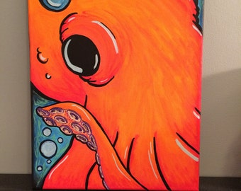 Octopus - Canvas Reproduction