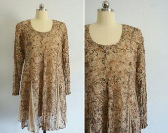 1990s Twirling lace babydoll dress | 90s babydoll dress | vintage lace dress