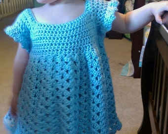 ALL SIZES Crochet Dress, Crochet Easter Dress, Made to order