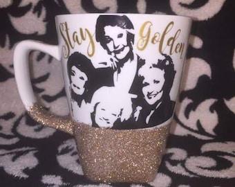 Golden Girls Glitter Mug