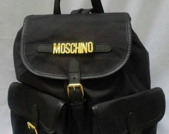 MOSCHINO Redwall vintage 90s black backpack
