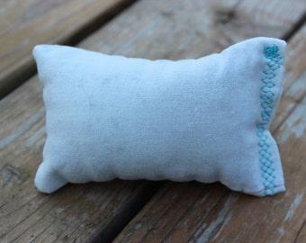Solid light blue catnip pillow
