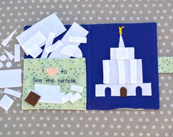 Handmade LDS Temple Building Shapes Quiet Book