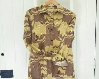 Vintage style blouse,  handmade funky blouse, boyfriend look.
