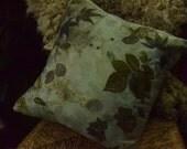 Rose leaf Silk cushion ec...