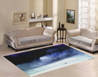 Area Rug 7'×5' +3 other sizes -Meeting a Friend- FREE Shipping