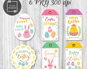 Printable Hand drawn design Easter Tags Easter Gift Tags Easter labels Instant download DIY Chick Tags Holiday tags Easter tags