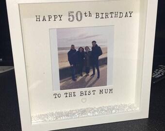 Milestone Birthday Gift, Birthday Frame, Special Birthday Frame, 50th Birthday, 21st, 30th, 40th, 60th, Mum Birthday Gift, Personalised Gift