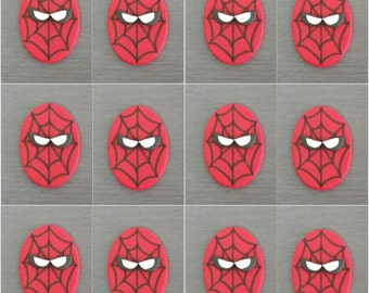 12 x Spider-Man Edible Cupcake toppers and Edible fondant cake decorations