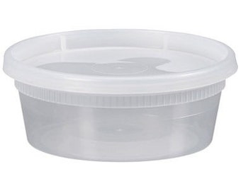 8 OZ Deli Containers w/ Lids (slime containers)
