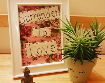 Surrender to Love embroidery