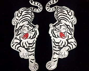 Tiger Patch Applique Sew or Iron Left and Right.(Selling per pair)