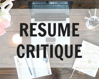 custom resume etsy
