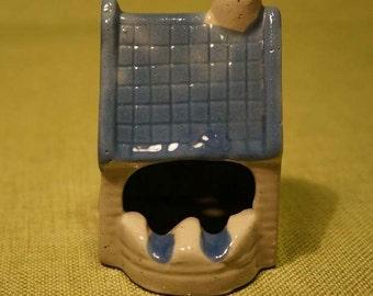 ASHTRAY Ceramic House 1980s RETRO KITSCH