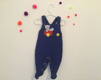 Vintage baby clothing, 90s baby clothes, vintage baby overalls, 1990s baby outfit, 3-6 months vintage clothes, 90s baby, vintage overalls