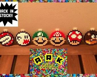 Super Mario Hama Christmas Tree Baubles 6 Pack