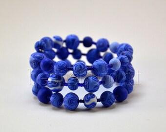 "Spiral bracelet ""Helia"", blue"