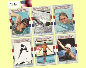 1991 impel hall of fame olympic swimming diving 13 card set mark spitz