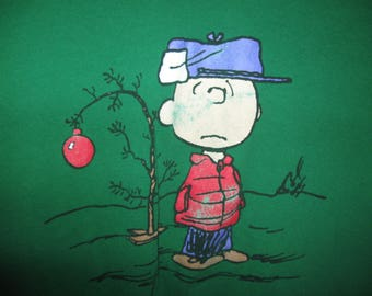 ship free Charlie Brown Christmas Tee Size XL
