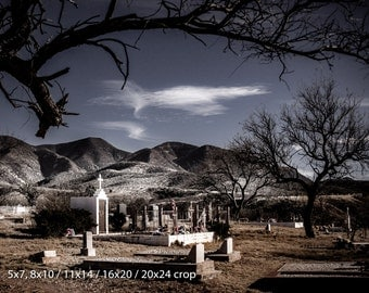 Eternal Partners - Spanish Cemetery at Red Mountain Arizona Color