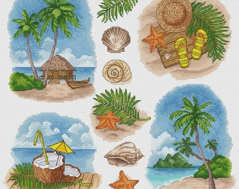 "Cross stitch pattern ""Tropical paradise"""