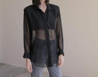 sheer button up