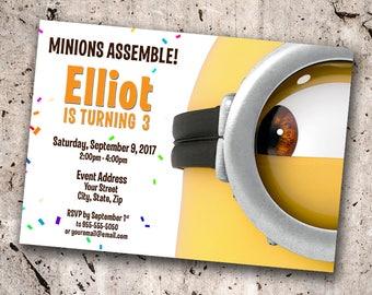 Minions Personalized Birthday Invitation