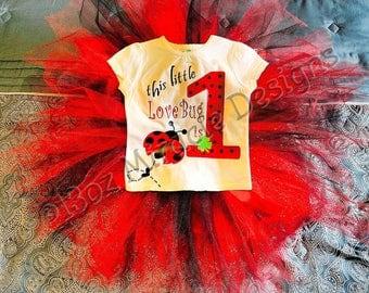 Ladybug Birthday Outfit, Ladybugs  Birthday Shirt, 1st Birthday
