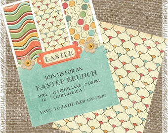 Printable Easter Brunch Invitation