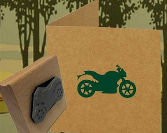 Motorbike Rubber Stamp