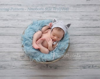Sewing Pattern - Newborn Wolf Hat