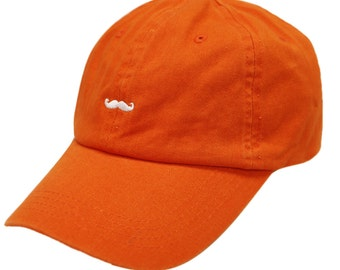 Mustache Dad Hat in Orange