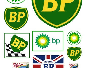 scale model BP gas station signs British Petroleum Gasoline