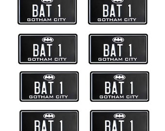 scale model toy car Batman 2 license plates tags
