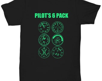 Pilot Unisex T-Shirts - Pilot's 6 Pack - Funny Flying Gifts