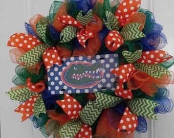 Florida Gators, Florida Wreath, Football Wreath,Door Wreath