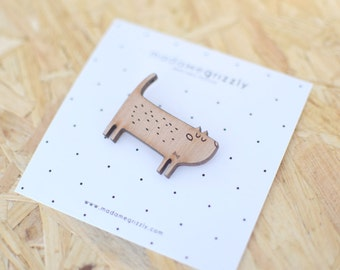 "Brooch ""Mr. cat"""