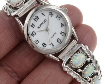 Opal Ladies Watch Bracelet Native American Tips