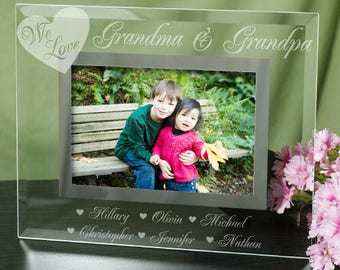 Personalized Engraved We Love Picture Frame Custom Name Gift