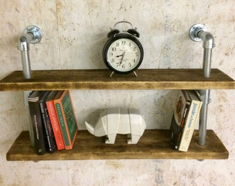 Hand made, Wall shelf, industrial bookcase,scaffolding planks, bespoke shelving, industrial bookcase, steel shelving, reclaimed wood shelve,