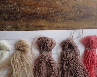 YARN: herbal dyed wool _ thin yarn for (machine) knitting or weaving