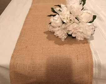 burlap table runner,  burlap runner,Rustic wedding