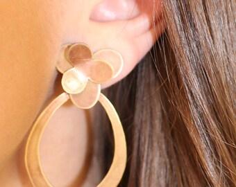 Handmade Brass Post Earrings