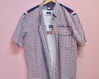 vtg 90s Tommy Jeans oxford collar button down  shirt XL size