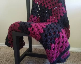 Handmade Crochet Blanket Winter Granny Pattern