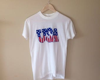 Vintage 50/50 USA Forth of July T Shirt