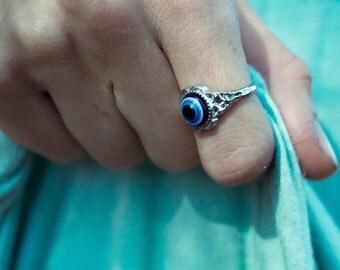 Evil eye ring