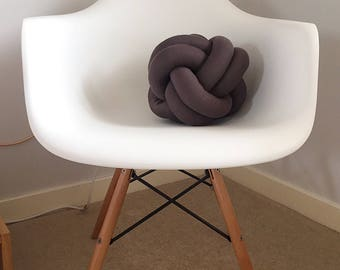 Knot Cushion in Slate Grey